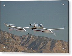 Scaled Composites White Knight Acrylic Print by Brian Lockett
