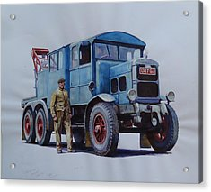 Scammell Wrecker. Acrylic Print by Mike Jeffries