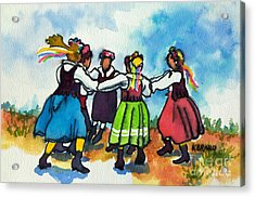 Scandinavian Dancers Acrylic Print by Kathy Braud