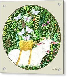 Scapegoat Button Acrylic Print