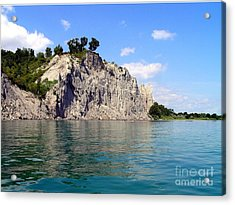 Acrylic Print featuring the photograph Scarborough Bluffs-lake View by Susan  Dimitrakopoulos