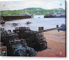 Scarborough Harbour. Acrylic Print by Harry Robertson