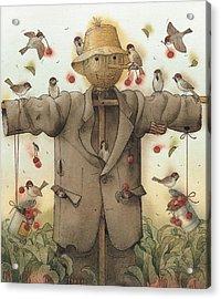 Scarecrow  Acrylic Print by Kestutis Kasparavicius