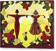 Scarecrow Sunset Acrylic Print by Sandra Moore