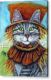 Scarecrow Tabby Acrylic Print