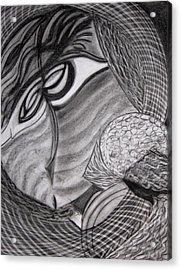Scarf Acrylic Print by Patricia Cleasby