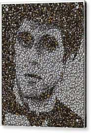 Acrylic Print featuring the mixed media Scarface Coins Mosaic by Paul Van Scott