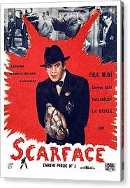 Scarface, Paul Muni, 1932 Acrylic Print by Everett
