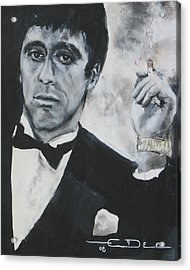 Scarface2 Acrylic Print by Eric Dee