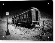 Scarlet Lady Moonlit Night Acrylic Print