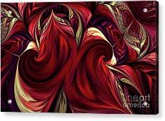 Acrylic Print featuring the digital art Scarlet Red by Deborah Benoit