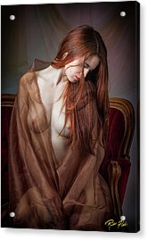 Acrylic Print featuring the photograph Scarlet Repose by Rikk Flohr