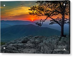 Scarlet Sky At Ravens Roost Acrylic Print