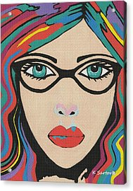 Scarlett - Contemporary Woman Art Acrylic Print
