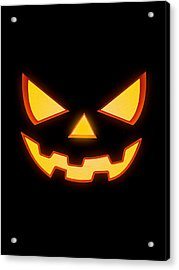 Scary Halloween Horror Pumpkin Face Acrylic Print