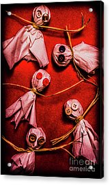 Scary Halloween Lollipop Ghosts Acrylic Print by Jorgo Photography - Wall Art Gallery