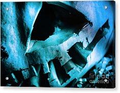 Scary Jack-o-lantern Pumpkin Detail Acrylic Print by Jorgo Photography - Wall Art Gallery