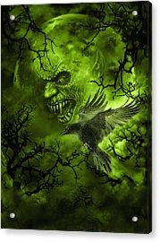 Scary Moon Acrylic Print