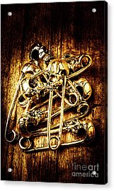 Scary Safety Pins Acrylic Print