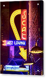 Scat Jazz Neon V3 Acrylic Print