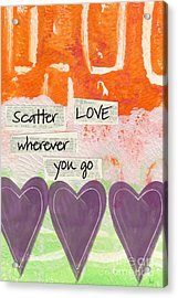 Scatter Love Acrylic Print by Linda Woods