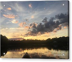 Scattered Sunset Clouds Acrylic Print