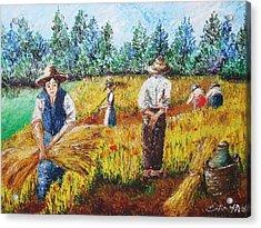 Scene Campestri N2 Acrylic Print by  Luca Corona