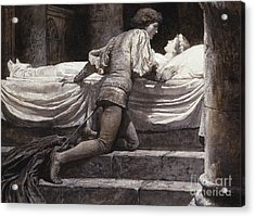 Scene From Romeo And Juliet - The Tomb  Acrylic Print by Frank Dicksee