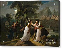 Scene From The Story Of Paul And Virginie Acrylic Print by Celestial Images