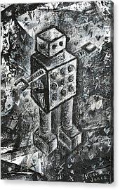 Scene Kid Robot Acrylic Print by Roseanne Jones