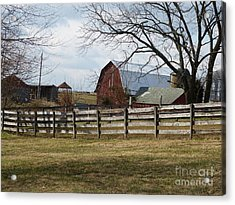 Acrylic Print featuring the photograph Scene On The Farm by Donald C Morgan