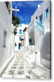 Scenic Mykonos Acrylic Print by HD Connelly