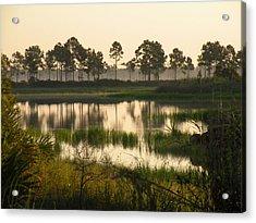 Scenic Reflections After Sunrise Acrylic Print by Rosalie Scanlon