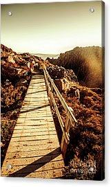 Scenic Summit Boardwalk Acrylic Print