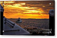 Scenic Sunset On The Keys Acrylic Print by Dieter  Lesche