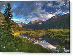 Scenic View Of Eagle River Valley Acrylic Print