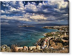 Scenic View Of Eastern Crete Acrylic Print by David Smith