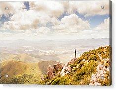 Scenic View Of Mt Zeehan, Tasmania, Australia Acrylic Print