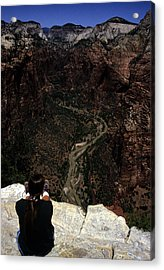 Scenic View Of Zion National Park Acrylic Print by Stacy Gold