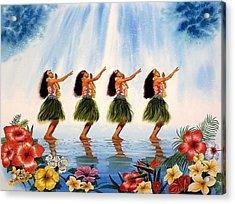 Scent Of Paradise Acrylic Print by John YATO
