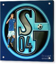 Schalke 04 Gelsenkirchen Painting Acrylic Print by Paul Meijering