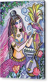 Acrylic Print featuring the painting Scheherazade's Bird by Eva Campbell