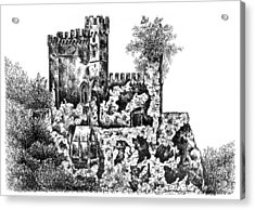 Schloss Rheinstein - Rheinstein Castle Acrylic Print by Deborah Willard