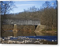 Schofield Ford Covered Bridge Acrylic Print by Elsa Marie Santoro