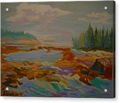 Acrylic Print featuring the painting Schoodic Inlet 2 by Francine Frank
