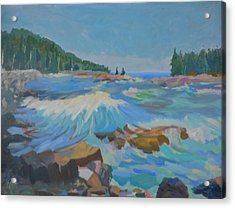 Acrylic Print featuring the painting Schoodic Inlet by Francine Frank