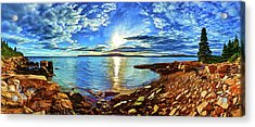 Schoodic Point Cove Acrylic Print by ABeautifulSky Photography