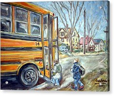 School Bus Acrylic Print by Joseph Sandora Jr