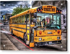 School Bus Acrylic Print by Spencer McDonald
