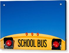 School Bus Top Acrylic Print